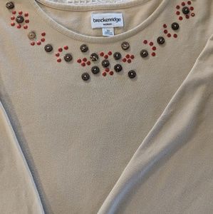 Breckenridge woman 3x embellished top